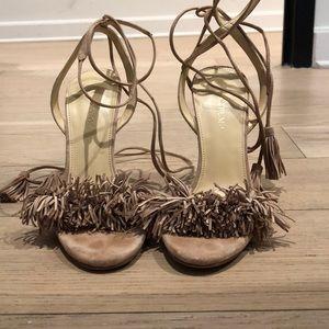 Ivanka trump blush fringe heels